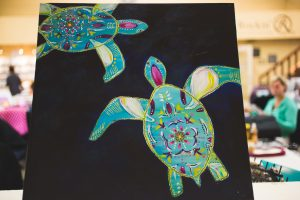 My turtles inspired during  Starla Halfmann's class in Hunt, TX.