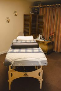Massage room, prepped and ready for your relaxation